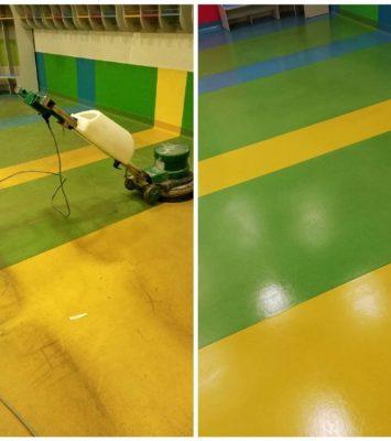 czyszczenie wykładzin pcv i polimeryzacja